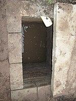 First soak pit of pour flush latrine (8152036279).jpg