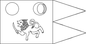 Kingdom of Upatissa Nuwara - Image: Flag of Dutthagamani