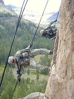Mountain warfare Combat in mountains or rough terrain