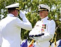 Flickr - Official U.S. Navy Imagery - A Navy Capt. receives a flag during his change of command ceremony at Naval Weapons Station Seal Beach..jpg