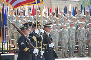 Members of the Indiana National Guard Honor Gu...
