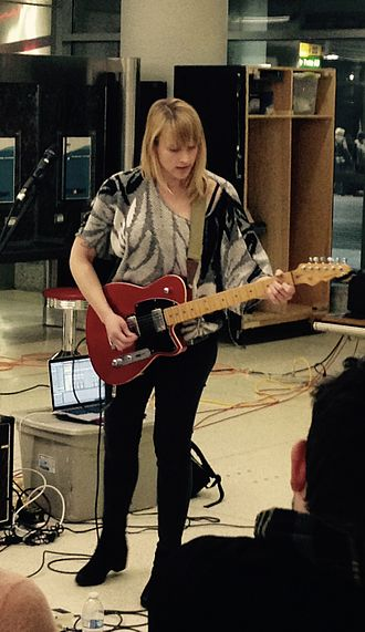 Jenn Wasner - Wasner performing as Flock of Dimes at BWI Airport in February 2016.