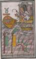 Florentine Codex Fo 63 plumas atado colorante vegetal cubierta de chimalli estandartes penacho.png