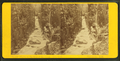 Flume, at the time of the flood, Oct. 1869. Franconia, N.H, by H. S. Fifield.png