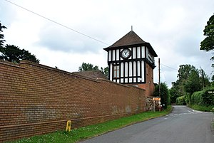 A. E. Housman - The site of the 17th-century Fockbury House (later known as The Clock House). Home of A.E. Housman from 1873-1878