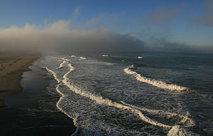 English: Fog at Ocean Beach in San Francisco i...