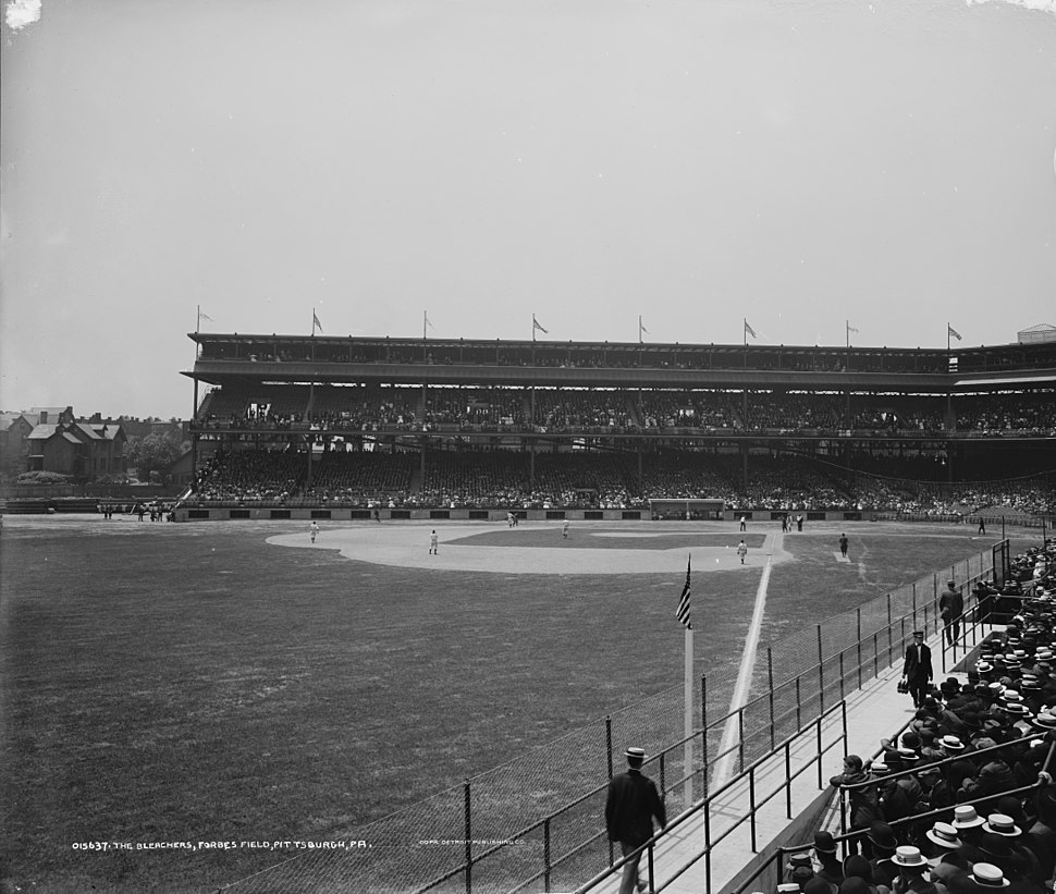Forbes Field from bleachers