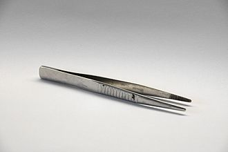 Forceps - Blunt-nosed thumb forceps with serrated tips for increased grip
