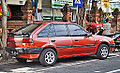 Ford Laser hatchback (rear), Denpasar.jpg