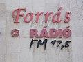 Forrás radio FM 97.8 sign, Fő Square, 2017 Tatabánya.jpg