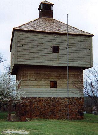 Fort Benjamin Hawkins - Fort Hawkins (1938 reconstructed southeastern blockhouse)