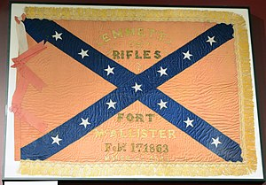George Wayne Anderson - Fort McAllister battle flag, GA, US