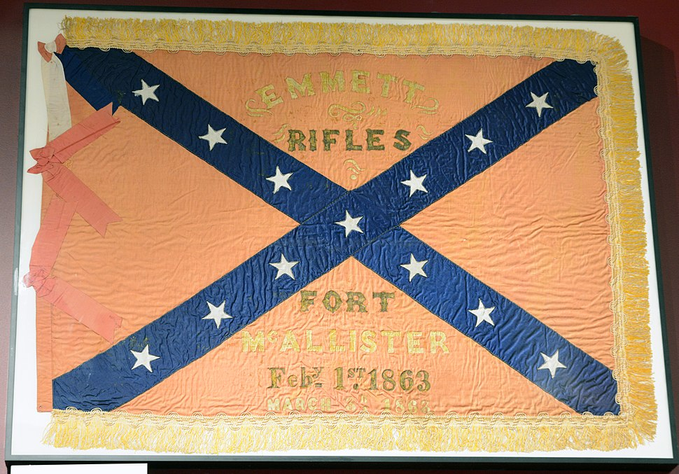 Fort McAllister battle flag, GA, US