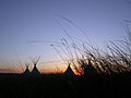 Fort Union National Monument Tipi Grass Sunset 1382.jpg