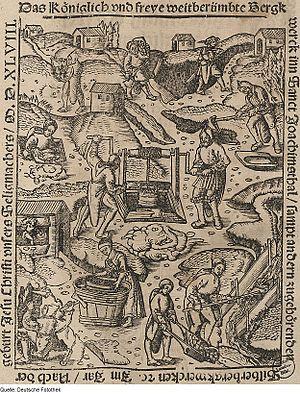Jáchymov - Silver mining in Joachimsthal (1548), (now Jáchymov)