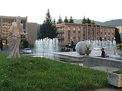 Fountain in front of Dilijan Municipality.JPG