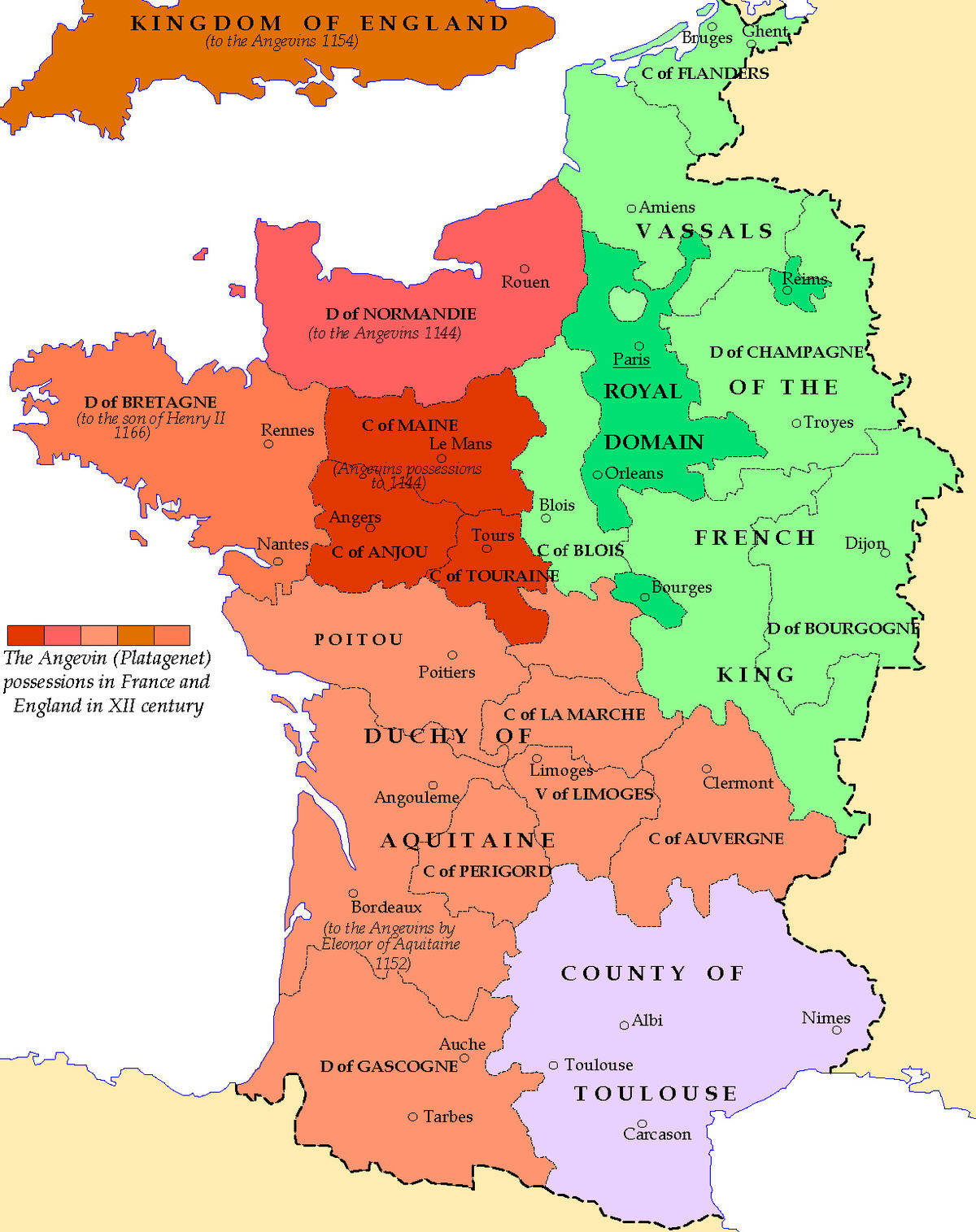 Angevin Empire Simple English Wikipedia The Free Encyclopedia - Limoges france map