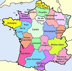 kart frankrike regioner Frankrikes geografi – Wikipedia kart frankrike regioner