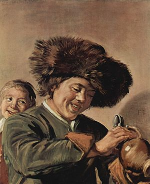 Two Singing Boys with a Lute and a Music Book - Image: Frans Hals 072