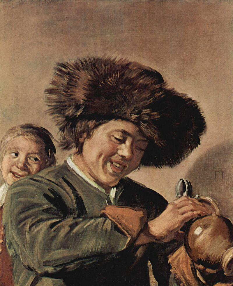 Frans Hals, The Two Laughing Boys with a Mug of Beer, 1626, Hofje van Mevrouw van Aerden Museum, Leerdam, The Nederlands, Stolen in 2020