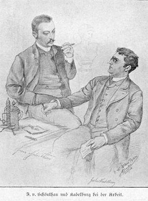 Gustav Kadelburg - Image: Franz von Schönthan und Gustav Kadelburg (Allers)