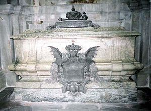 Frederick I of Sweden - Frederick's sarcophagus in Riddarholm Church