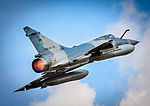 French Air Force Dassault Mirage 2000C take off from RAF Brize Norton.jpg