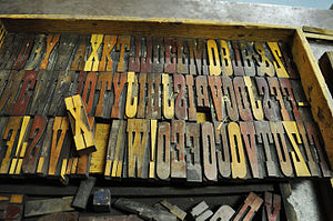 Clarendon (typeface) - French Clarendon wood type at the Hamilton Wood Type Museum, Wisconsin.