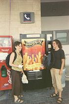 A French fry vending machine in Safed, Israel