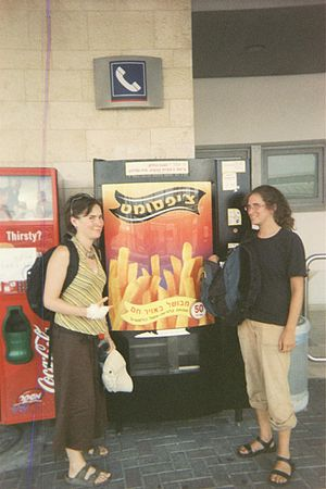 French fry vending machine - Image: French fry vending machine 1