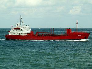 Freyja IMO 7392610 06Aug05 NW side approaching Port of Rotterdam, Holland 06-Aug-2005.jpg