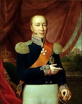 Frederick Francis I, Grand Duke of Mecklenburg-Schwerin - Portrait by Rudolph Suhrlandt (1817)