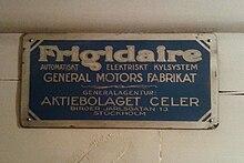 frigidaire fridge at the hallwyl house - Frigidaire