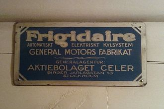 Frigidaire - Frigidaire fridge at the Hallwyl House