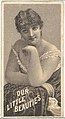 From the Actresses series (N57) promoting Our Little Beauties Cigarettes for Allen & Ginter brand tobacco products MET DP839400.jpg