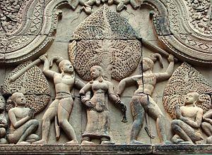 Cambodian art - Image: Fronton Cambodge Musée Guimet 9972