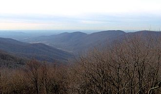 Frozen Head State Park - The Flat Fork Valley, looking west from the summit of Frozen Head