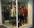Furrier's shop window, raccoon + fox.jpg