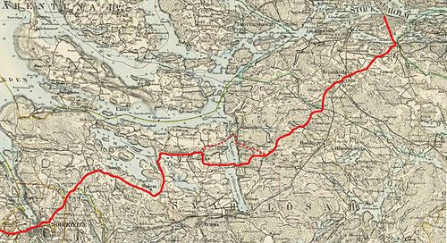 riksettan karta Gamla Göta landsväg – Wikipedia riksettan karta