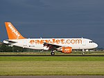 G-EZBL easyJet Airbus A319-111 landing at Schiphol (EHAM-AMS) runway 18R pic4.JPG