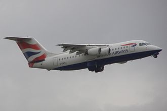 BA Connect - BAe 146-200 departing Manchester Airport in 2007