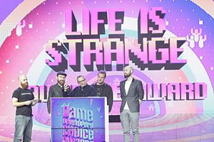 Life Is Strange - The developers accept the audience award at the 2016 Game Developers Choice Awards.