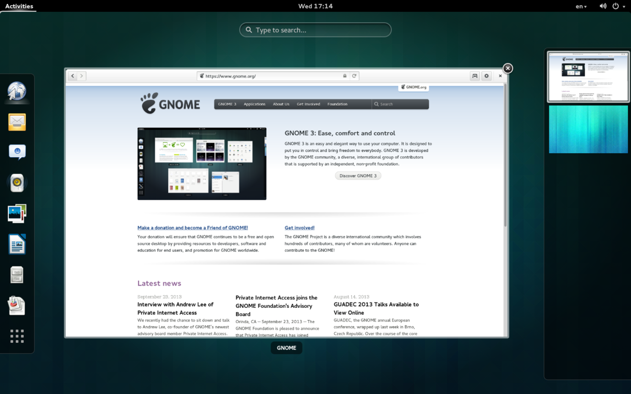 1280px GNOME Shell 3.10 | GrecTech