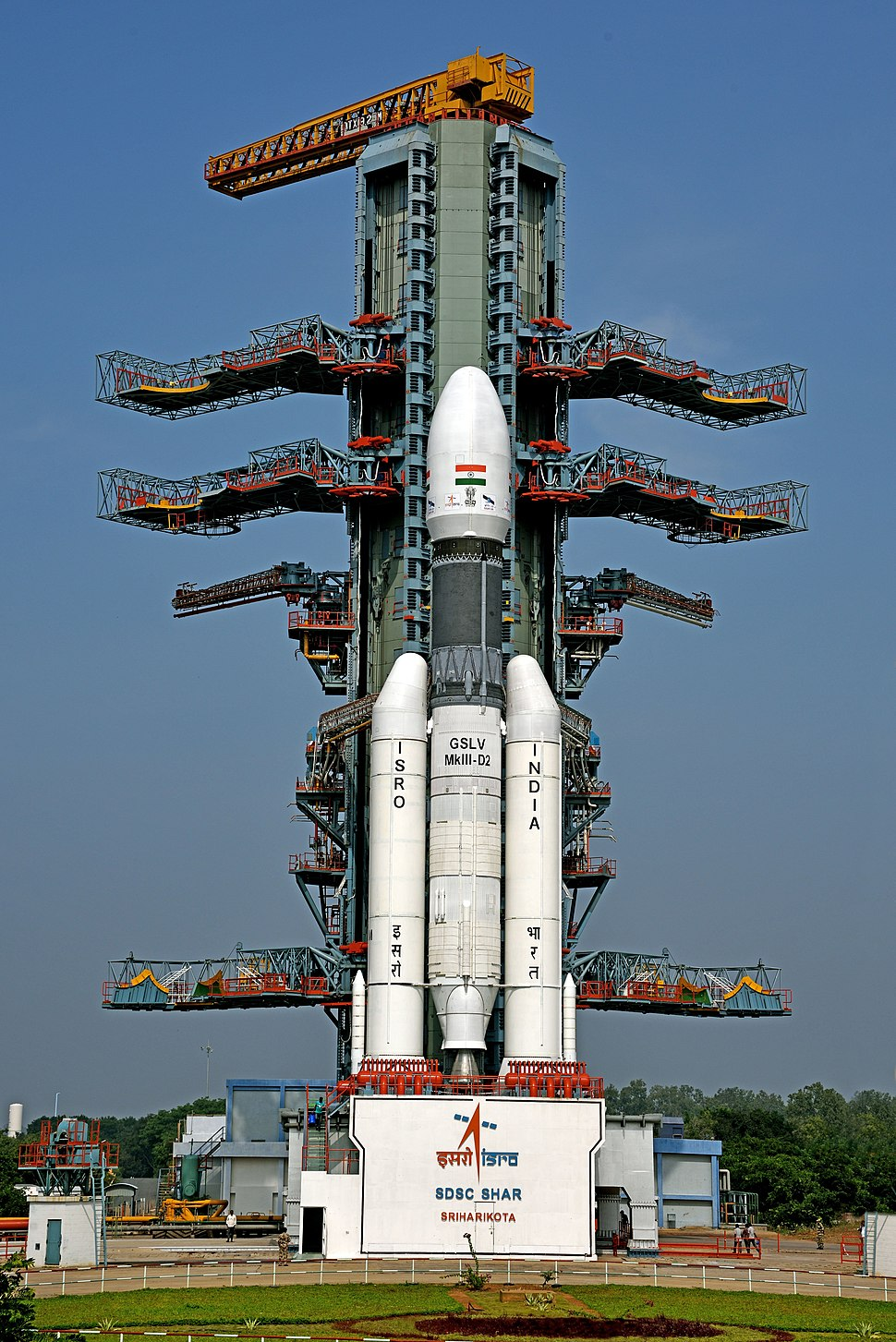 GSLV Mk III D2 with GSAT-29 on Second Launch Pad of Satish Dhawan Space Centre, Sriharikota (SDSC SHAR)