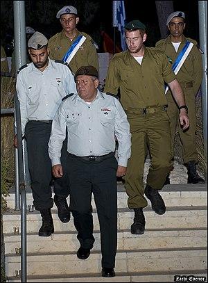 Gadi Eizenkot - IDF Chief of General Staff Gadi Eizenkot in memorial ceremony of the IDF Combat Engineering Corps, 2016.