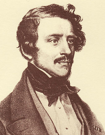Gaetano Donizetti, from a lithography by Josef Kriehuber (1842) Gaetano Donizetti 2.jpg