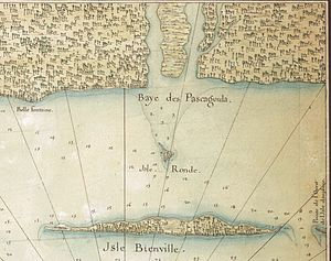 Pascagoula, Mississippi - Pascagoula bay, early 18th century French map