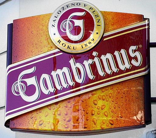 Gambrinus-Werbung in Karlsbad - cseh sörök