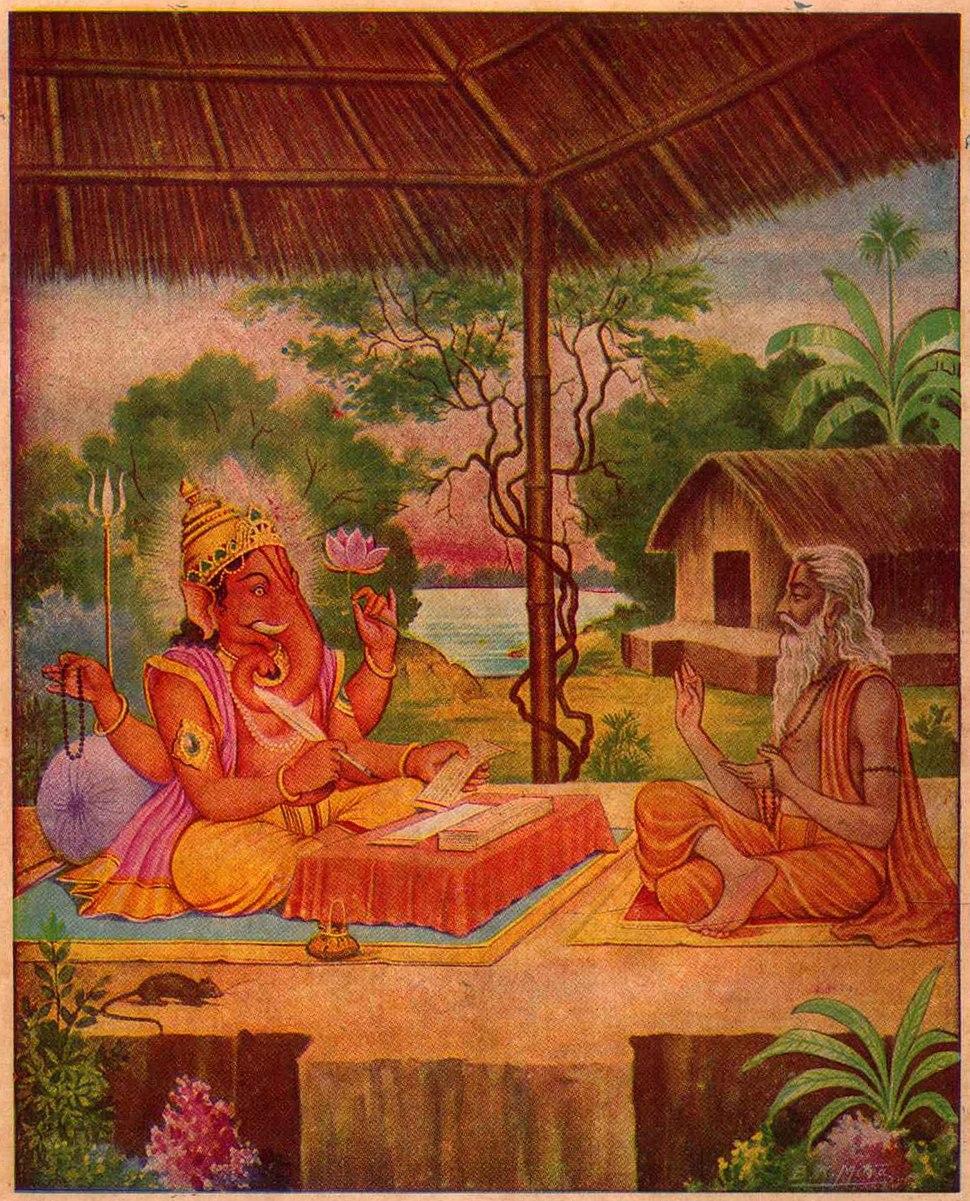 Ganesha write Mahabharata