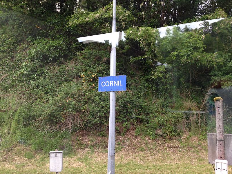 Panneau de la Gare de Cornil